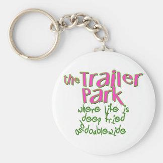 Deep Fried Double Wide Trailer Park Key Chain