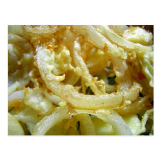 Deep fried onions postcard