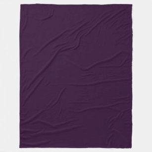 Deep Fuchsia A Solid Dark Purple Color Fleece Blanket
