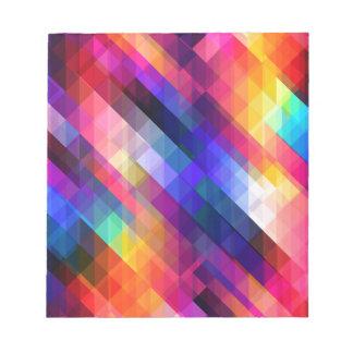 Deep Geometric Tetris Squares - Modern Pattern Note Pad
