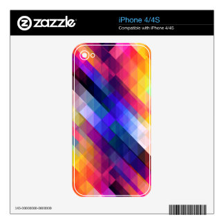 Deep Geometric Tetris Squares - Modern Pattern Skin For The iPhone 4