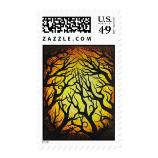 Deep Golden Forest Postage Stamp