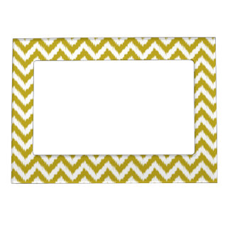 Deep Golden Yellow Chevron Pillow Magnetic Picture Frame