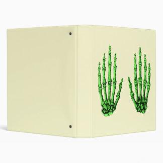 Deep Green Bones of the Hand 3 Ring Binder