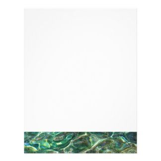 Deep green fresh waters letterhead
