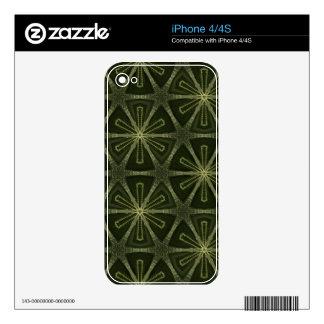 Deep green kaleidoscope decal for iPhone 4