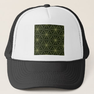 Deep green kaleidoscope trucker hat