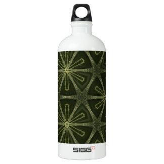 Deep green kaleidoscope water bottle
