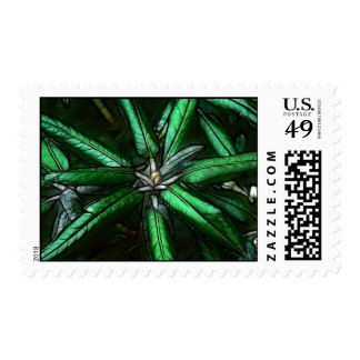 Deep Green Leaves Stamp