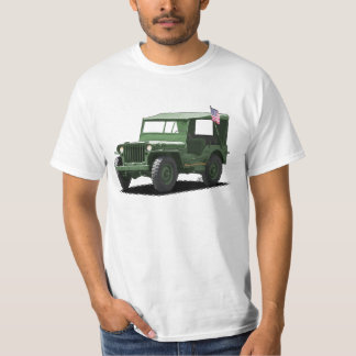 Deep Green MJ Military Vehicle T-Shirt
