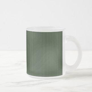 Deep Green Patterned Coffee Mug
