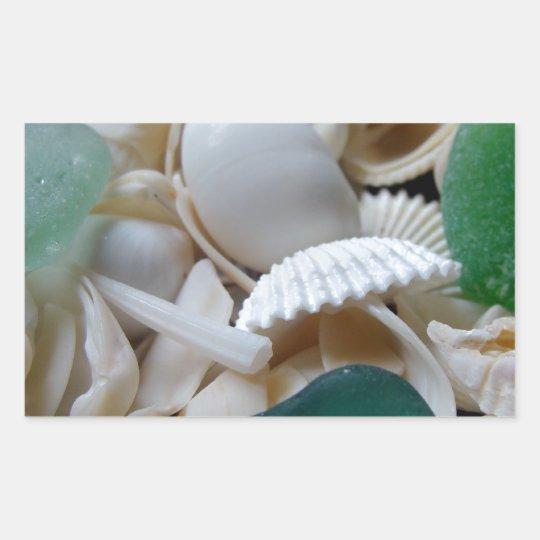 Deep Green Sea Glass Rectangular Sticker