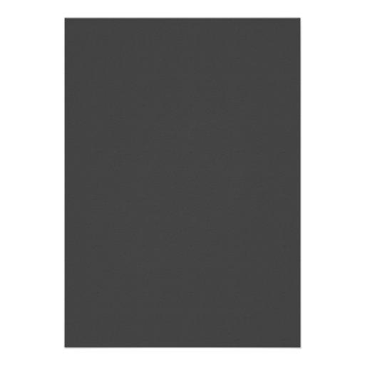 deep grey dark gray color trend blank template 5 x 7 On deep grey color