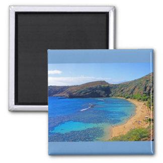 Deep Hanauma Bay 3, Honolulu, Oahu, Hawaii Inland 2 Inch Square Magnet