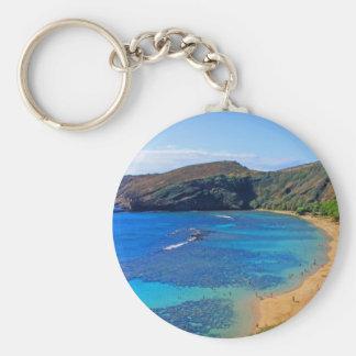 Deep Hanauma Bay, Honolulu, Oahu Basic Round Button Keychain