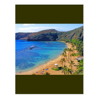 Deep Hanauma Bay, Honolulu, Oahu, Hawaii View Postcard