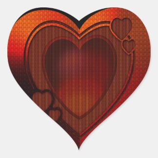 Deep Heart Heart Sticker