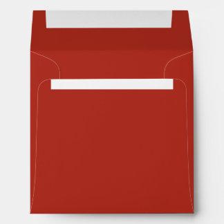 Deep Hot Red Color Envelopes