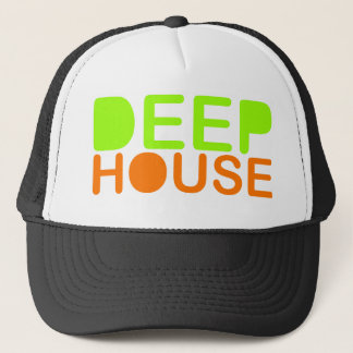 deep house music dj style trucker baseball cap