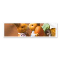 Deep in love easter bunny bumper sticker