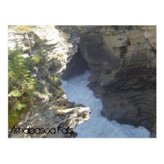 Deep in the Athabasca Falls Postcard