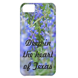 """""""Deep in the heart of Texas"""" bluebonnet phone case Case For iPhone 5C"""