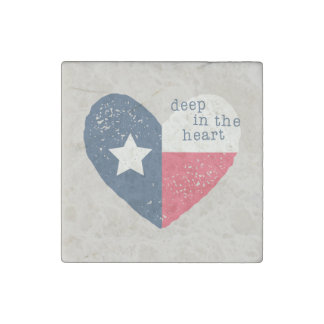 Deep in the Heart Texas Magnet Stone Magnet