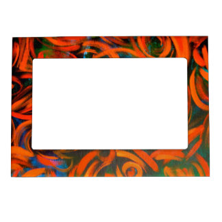 Deep In The Jungle - Abstract Art Magnetic Photo Frame