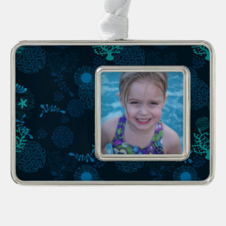 Deep in the Ocean Silver Plated Framed Ornament