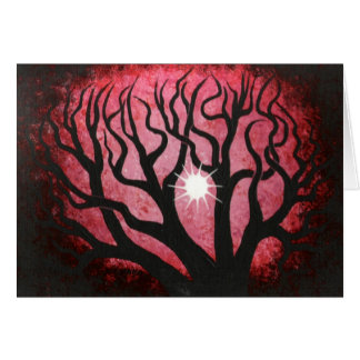 Deep in the Red forest Greeting Card