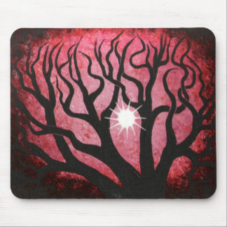 Deep in the Red forest Mouse Pad