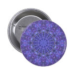 Deep into the sea: Mandala/ fractals Pinback Button