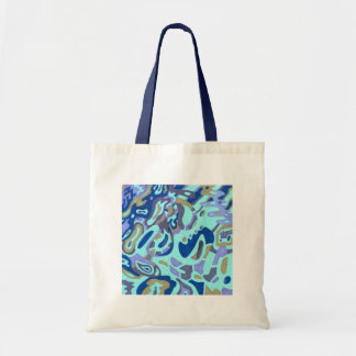 """""""Deep is the Ocean"""" Original Abstract Budget Tote Bag"""