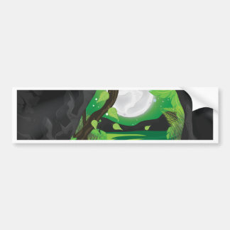 Deep Jungle Cave Bumper Sticker