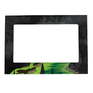 Deep Jungle Cave Magnetic Photo Frame