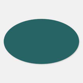 Deep Jungle Green Oval Sticker