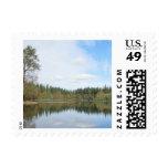 Deep Lake Postage Stamp