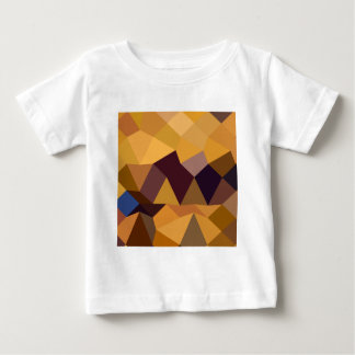 Deep Lemon Yellow Abstract Low Polygon Background Baby T-Shirt