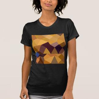 Deep Lemon Yellow Abstract Low Polygon Background T-Shirt