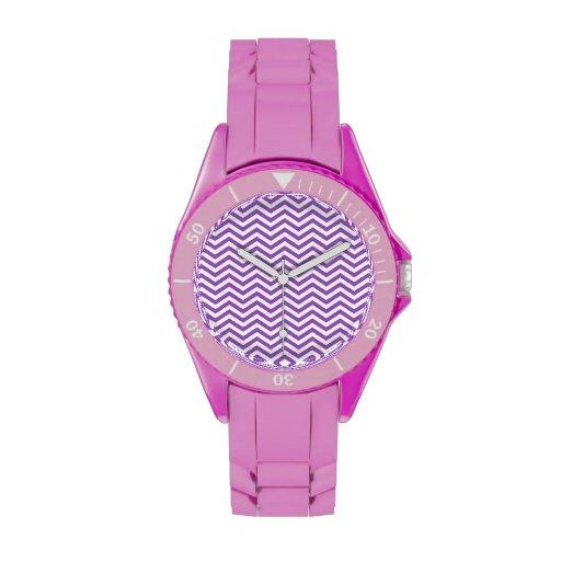 Deep Lilac Chevron Wristwatch