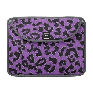 Deep Lilac Leopard Animal Print Sleeve For MacBook Pro