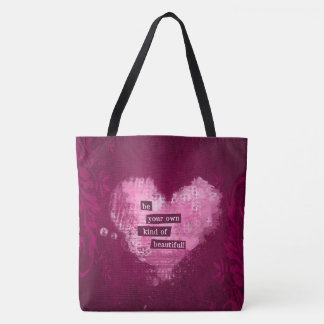Deep Magenta and Pink Beautiful Inspiration Tote Bag