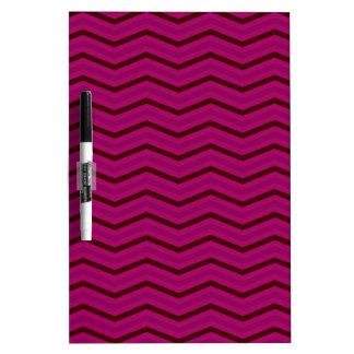 Deep Magenta Zig Zag Pattern Dry-Erase Whiteboard