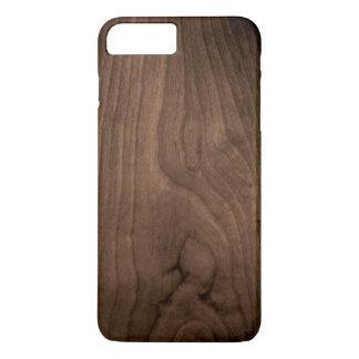 Deep Mahogany Wood Grain iPhone 7 Case
