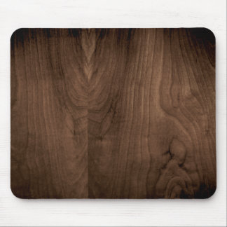 Deep Mahogany Wood Grain Mouse Pad