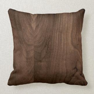Deep Mahogany Wood Pillow