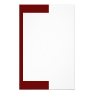 Deep Maroon and White Border Stationery