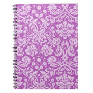 Deep Mauve Damask Notebook