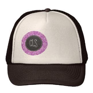 Deep Mauve Paisley; Vintage Chalkboard look Trucker Hat