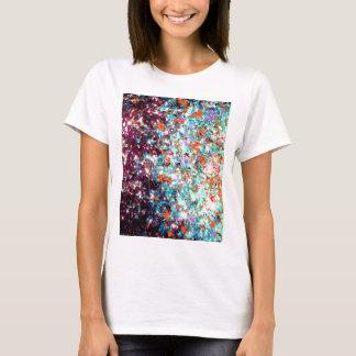 DEEP MIDWINTER Abstract Aqua Red Galaxy Ombre Art T-Shirt